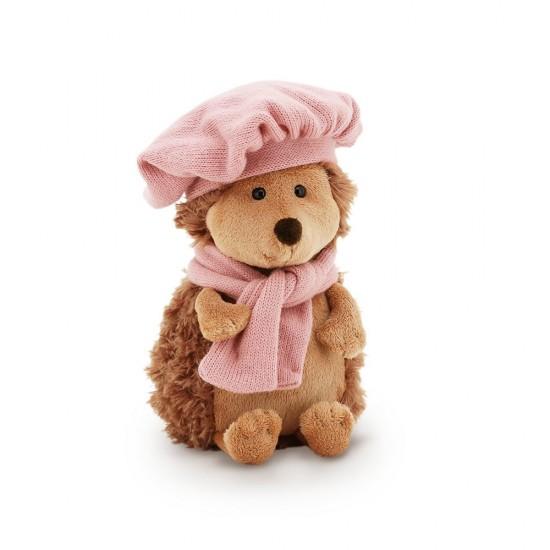 Jucarie ariciul de plus cu bereta si fular Fluffy, 15cm, Orange Toys Jucarii Plus