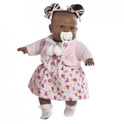 Papusa interactiva Alicia in rochita cu floricele, 38 cm, Berbesa