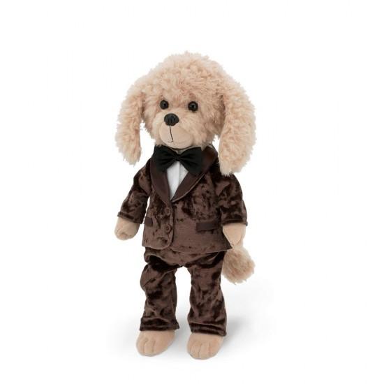Jucarie catelul de plus Lucky Bobby: Dress Code, 25cm, Orange Toys Jucarii Plus