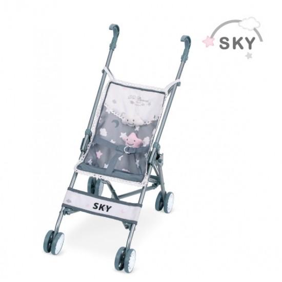 Mini carucior sport, Sky,42x28x56, De Cuevas Accesorii Papusi