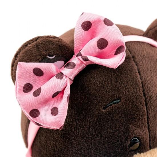 Jucarie urs de plus cu rochita Milk, 25cm, Orange Toys Jucarii Plus