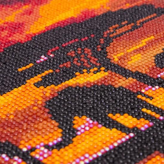 Set creativ tablou cu cristale, Elefant, 30x30cm, Craft Buddy