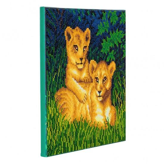 Set creativ tablou cu cristale, Pui de leu, 30x30cm, Craft Buddy
