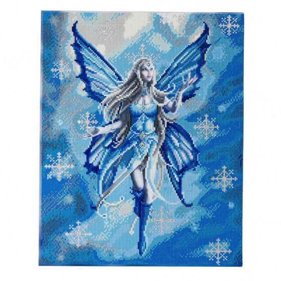 Set creativ tablou cu cristale, Craiasa zapezii, 40x50cm, Craft Buddy