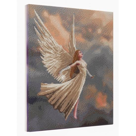 Set creativ tablou cu cristale, Inger, 40x50cm, Craft Buddy