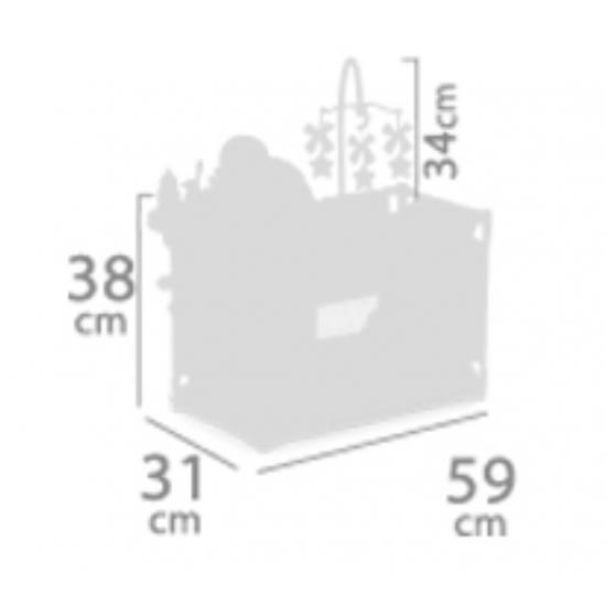 Patut tarc cu masa de schimb si loc de joaca pentru papusi cu accesorii, gri, Sky,59x31x38, De Cuevas Accesorii Papusi