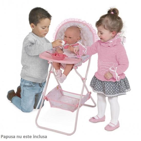 Scaunel pentru papusi cu accesorii, roz, Maria, 42x32x65, De Cuevas. Accesorii Papusi
