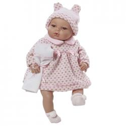 Papusa interactiva Maria in rochita roz , 42 cm, Berbesa