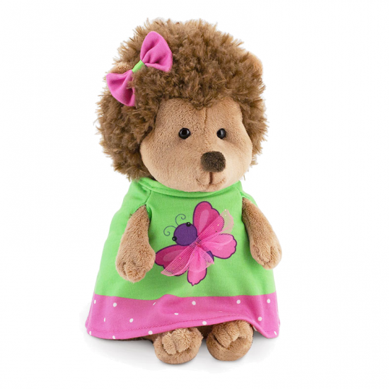 Fluffy, ariciul in rochita cu fluturas , din plus, 15cm, Orange Toys