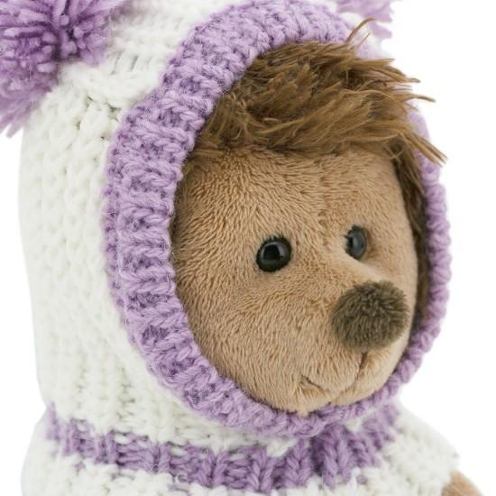 Fluffy, ariciul cu caciulita alb-violet, din plus, 15cm, Orange Toys