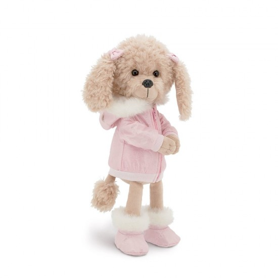Jucarie catelusa de plus Lucky Dolly: Alpine Style, 25cm, Orange Toys
