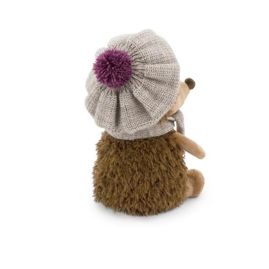 Prickle, ariciul cu caciulita si fular alb-violet, din plus, 20cm, Orange Toys