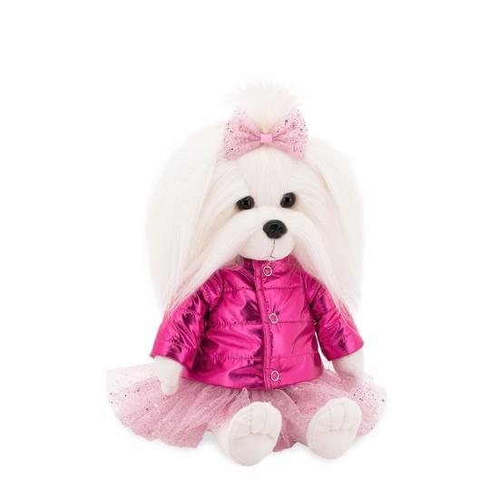 Catelusa Lucky Mimi cu jacheta roz, din plus, 25cm, Orange Toys