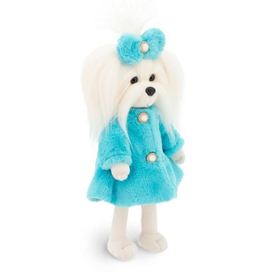 Catelusa Lucky Mimi cu hainuta albastra, din plus, 25cm, Orange Toys