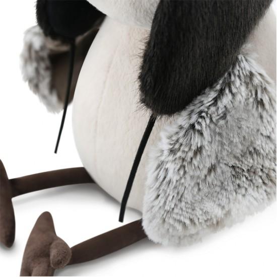 Jucarie vrabiuta de plus Chirpy cu caciula Ushanka, 20cm, Orange Toys Jucarii Plus