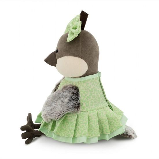 Jucarie vrabiuta de plus Grace in rochita verde avocado, 20cm, Orange Toys Jucarii Plus