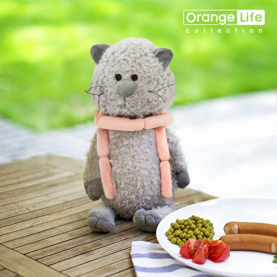 Jucarie motanul de plus cu carnaciori Buddy, 25cm, Orange Toys Jucarii Plus