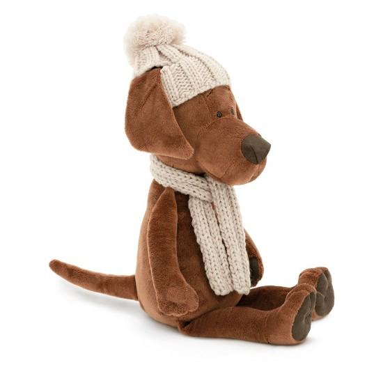 Jucarie catelul de plus Cookie: aventura iarna, 25cm, Orange Toys Jucarii Plus