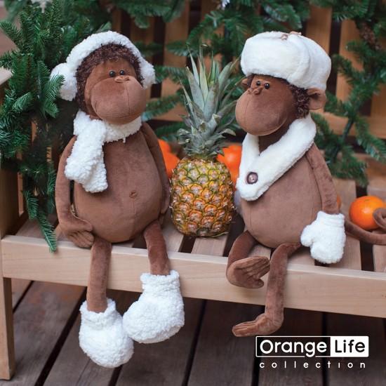 Jucarie maimutica de plus Nickolas, 25cm, Orange Toys Jucarii Plus
