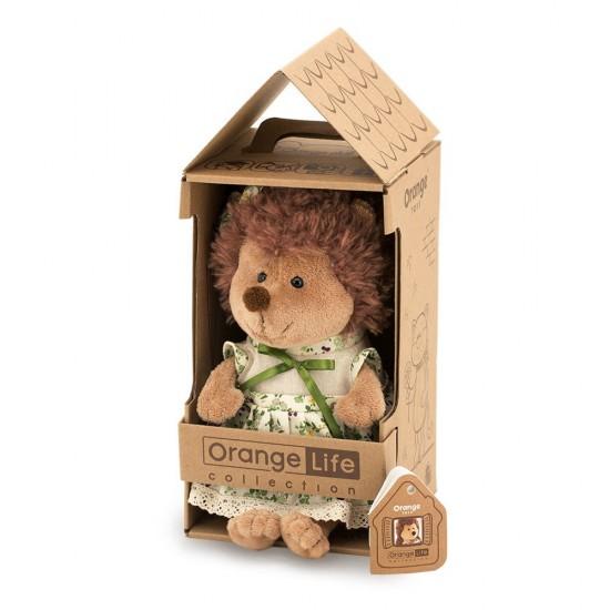 Jucarie ariciul cu rochita verde Fluffy, 20cm, Orange Toys Jucarii Plus