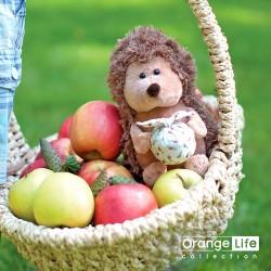 Jucarie ariciul cu traista de plus Prickle, 15cm, Orange Toys