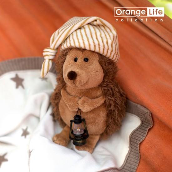 Jucarie ariciul cu felinar de plus Prickle, 20cm, Orange Toys Jucarii Plus