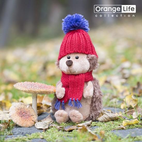 Jucarie ariciul de plus cu caciula rosie Prickle, 15cm, Orange Toys Jucarii Plus