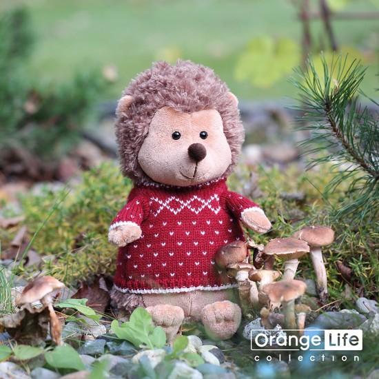 Jucarie ariciul de plus cu pulover rosu Prickle, 20cm, Orange Toys Jucarii Plus
