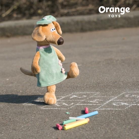 Jucarie catelusa de plus Zuza, 20cm, Orange Toys Jucarii Plus