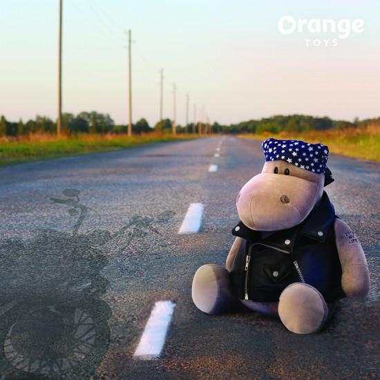 Po hipopotamul motociclist , din plus, 20cm, Orange Toys