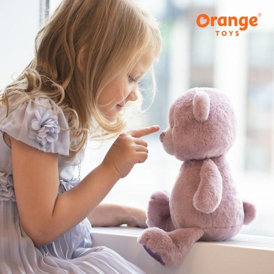 Ursuletul pufos violet, 22cm, Orange Toys