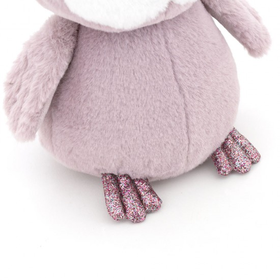 Bufnita pufoasa violeta, 22cm, Orange Toys