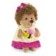 Fluffy, ariciul in rochita cu albinuta , din plus, 15cm, Orange Toys