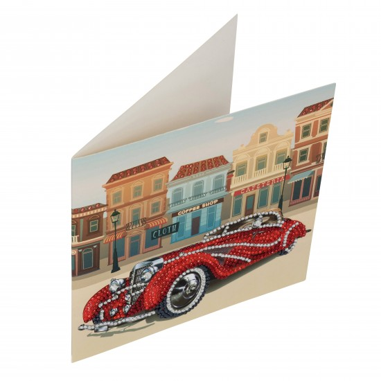 Set creativ tablou cu cristale Classic Car 18x18cm, Craft Buddy Art & Craft