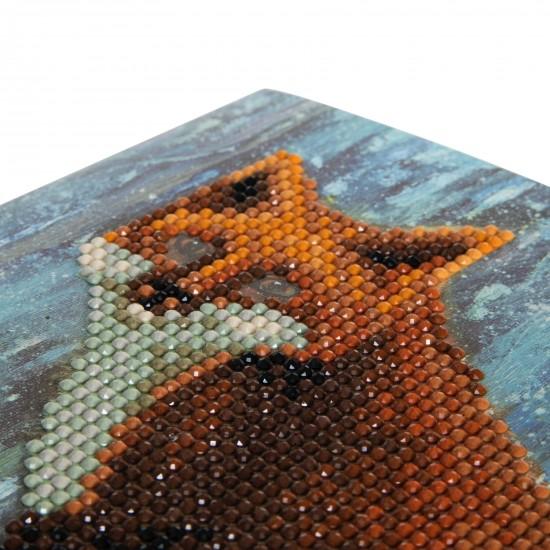 Set creativ tablou cu cristale Winter Fox 18x18cm, Craft Buddy Art & Craft
