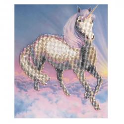 Set creativ de colectie Crystal Art Gallery Unicorn Dream cu sevalet 21x25cm, Craft Buddy