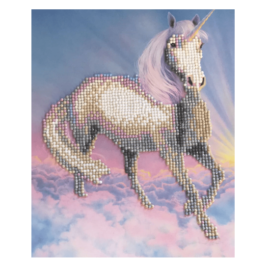 Set creativ de colectie Crystal Art Gallery Unicorn Dream cu sevalet 21x25cm, Craft Buddy Art & Craft