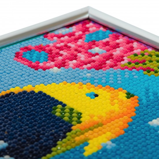 Set creativ Crystal Art in rama foto argintie Tropical Fish 21x25cm, Craft Buddy Art & Craft