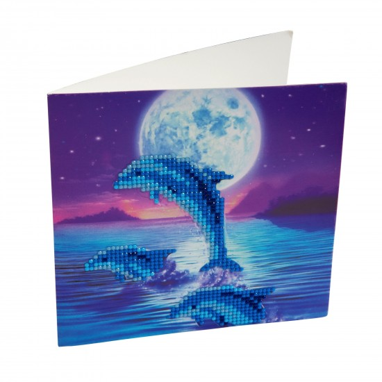 Set creativ tablou cu cristale Dolphin Pod 18x18cm, Craft Buddy Art & Craft