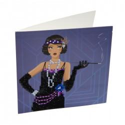 Set creativ tablou cu cristale 18x18cm, Craft Buddy