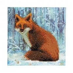 Set creativ tablou cu cristale Winter Fox 18x18cm, Craft Buddy