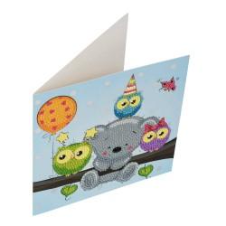 Set creativ tablou cu cristale Birthday Friends 18x18cm, Craft Buddy