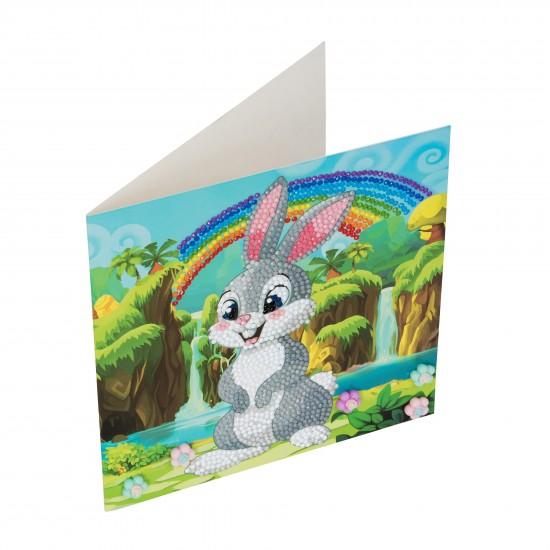 Set creativ tablou cu cristale Rabbit Wonderland 18x18cm, Craft Buddy