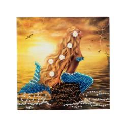 Set creativ tablou cu cristale Mermaid Dreams 18x18cm, Craft Buddy