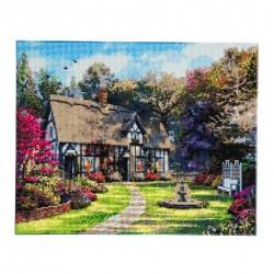 Set creativ tablou cu cristale, Crystal Art Country Cottage 40x50cm, Craft Buddy