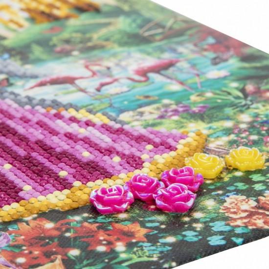 Set creativ tablou cu cristale, Crystal Art The Princess & The Unicorn 30x30cm, Craft Buddy Art & Craft