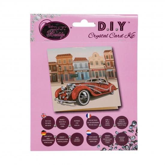 Set creativ tablou cu cristale Classic Car 18x18cm, Craft Buddy Art & Craft