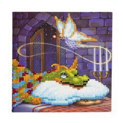 Set creativ tablou cu cristale  Dragon 18x18cm, Craft Buddy