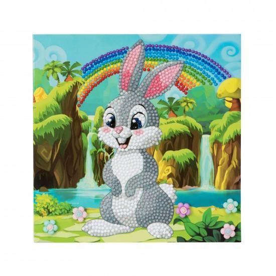 Set creativ tablou cu cristale Rabbit Wonderland 18x18cm, Craft Buddy Art & Craft