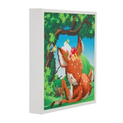 Set creativ tablou cu cristale, Crystal Art Forest Deer 20x20cm, Craft Buddy